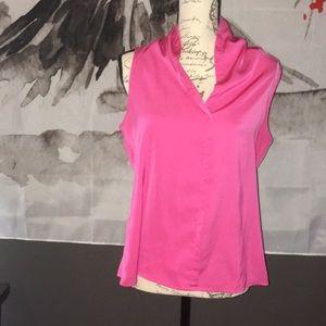 Ann Taylor blouse pink size 6